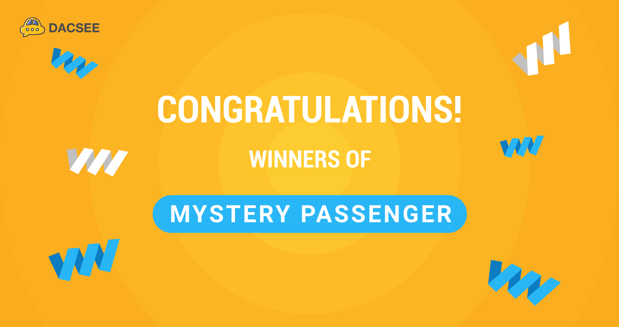 Congratulations to DACSEE Mystery Passenger Winners!