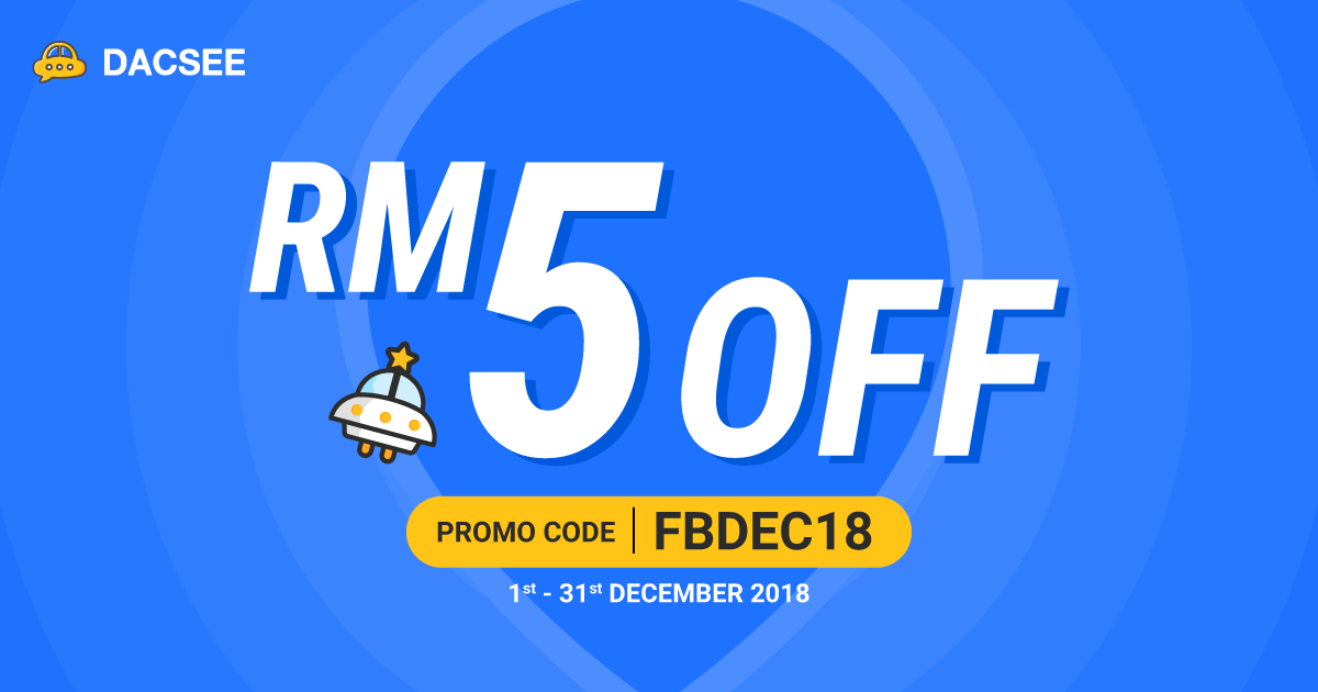 RM5 OFF Your Ride With Us Throughout December 2018